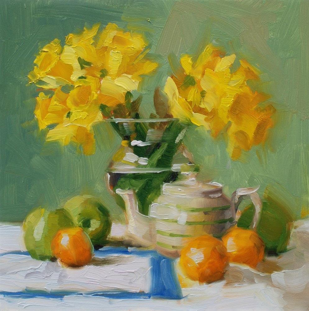 """No. 599 Mini Spring Morning"" original fine art by Susan McManamen"