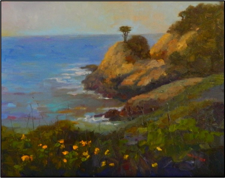 """""""View from Cypress Grove Trail, 20x16, oil on linen"""" original fine art by Maryanne Jacobsen"""