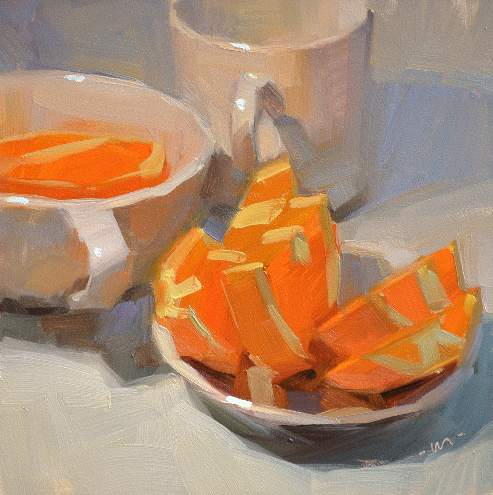 """Orange You Tempted?"" original fine art by Carol Marine"