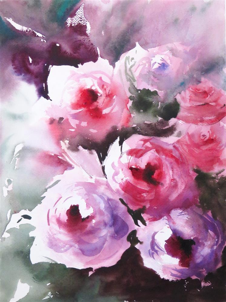 """""""some roses"""" original fine art by Christa Friedl"""