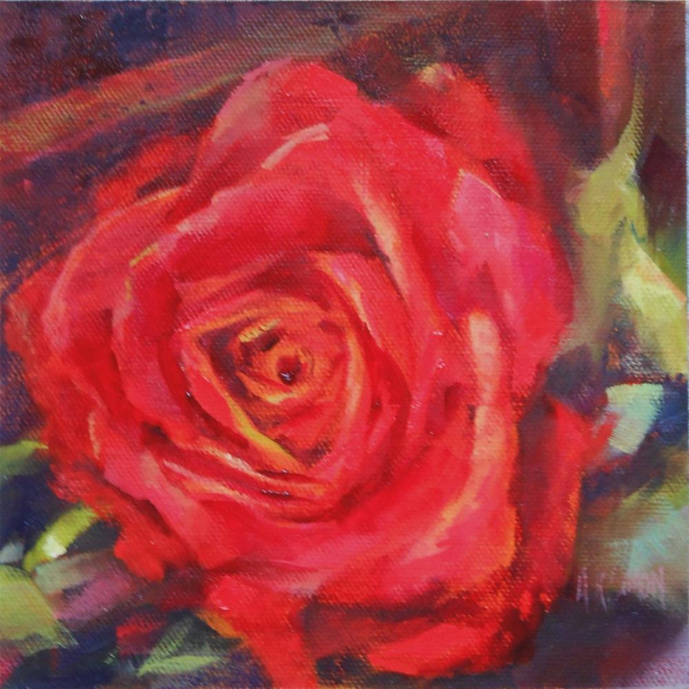 """Rosy Outlook"" original fine art by A.K. Simon"