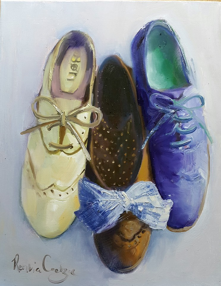 """Shooze 2"" original fine art by Rentia Coetzee"