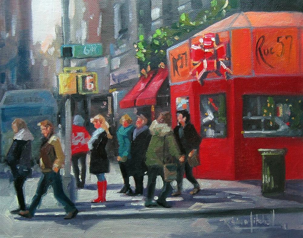 """No766_Rue57"" original fine art by Robin J Mitchell"