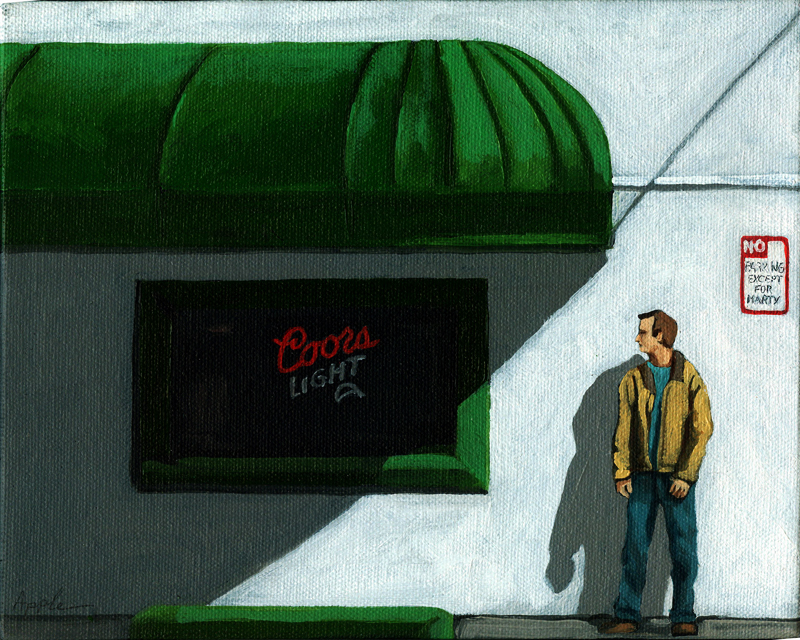 """No Parking"" original fine art by Linda Apple"