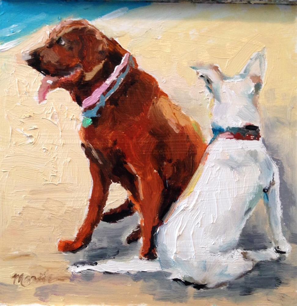 """""""Beach Buds"""" original fine art by Marcia Hodges"""