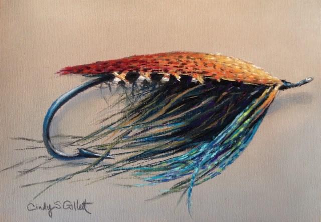 """Fly 3 - Midnight Blue"" original fine art by Cindy Gillett"