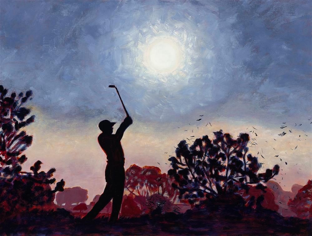 """Tiger Silhouette"" original fine art by Karen Gehse"