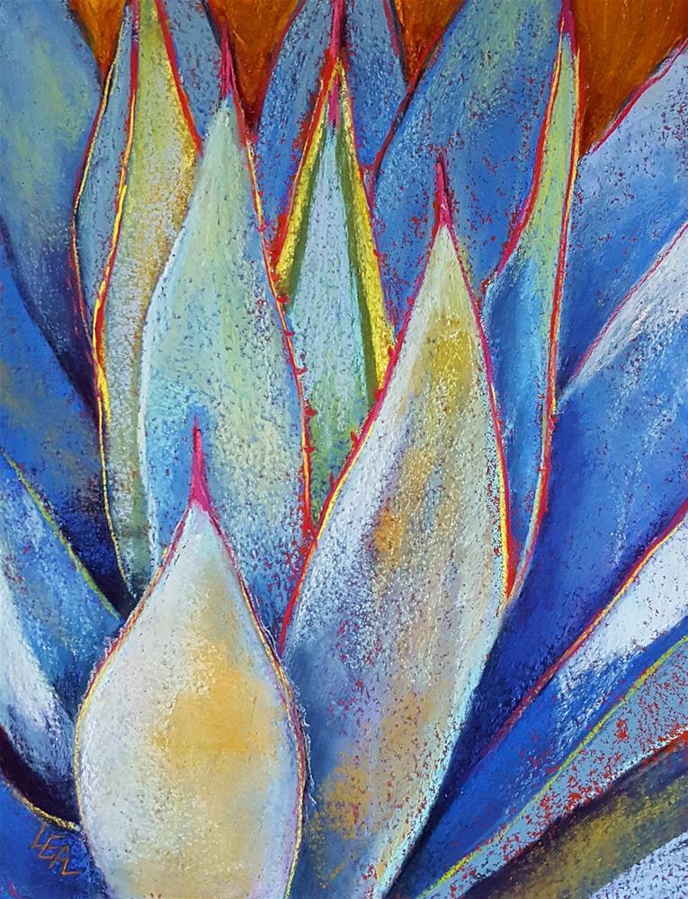 """Blue Glow Red Line"" original fine art by Anna Lisa Leal"