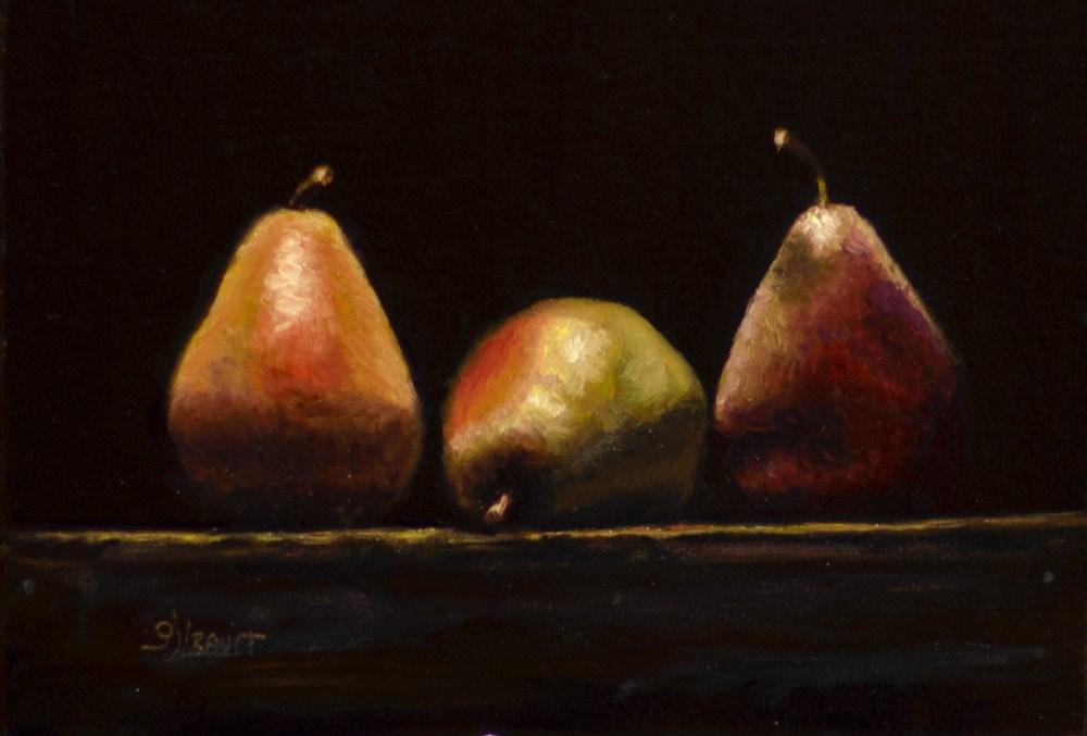 """""""3 Pears"""" original fine art by Garry Kravit"""