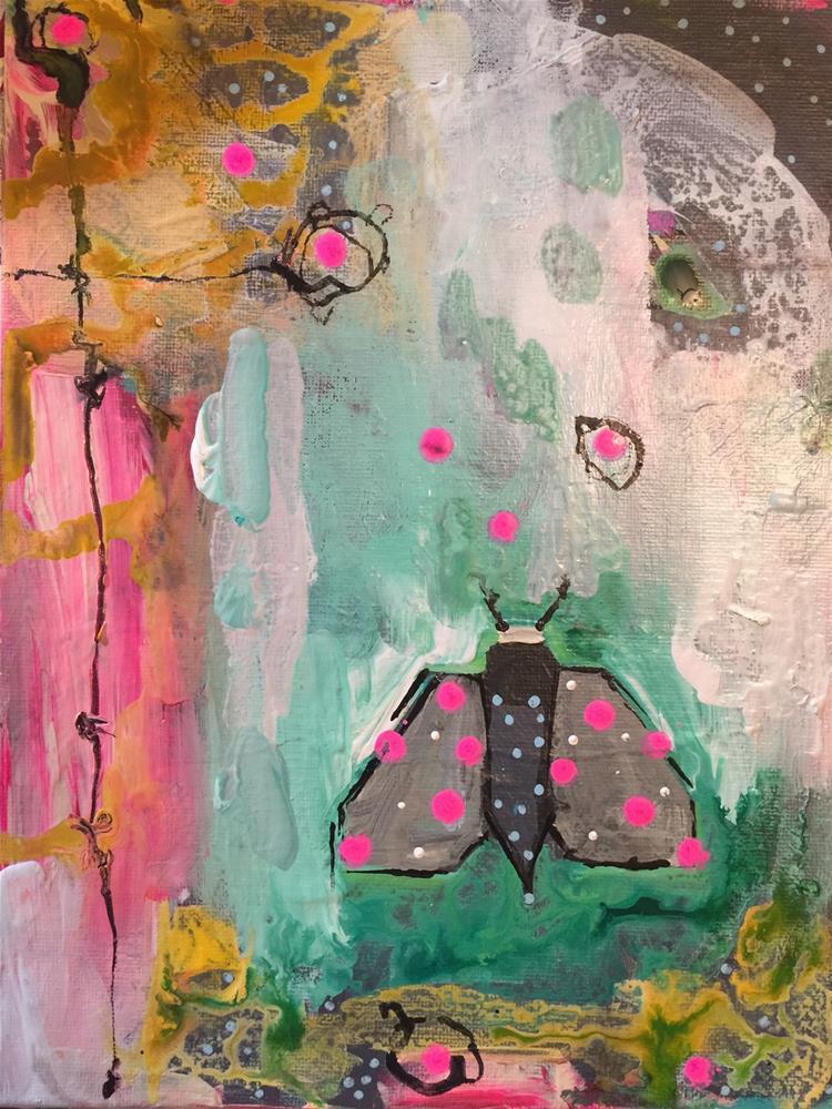 """170 Mannered Moth"" original fine art by Jenny Doh"