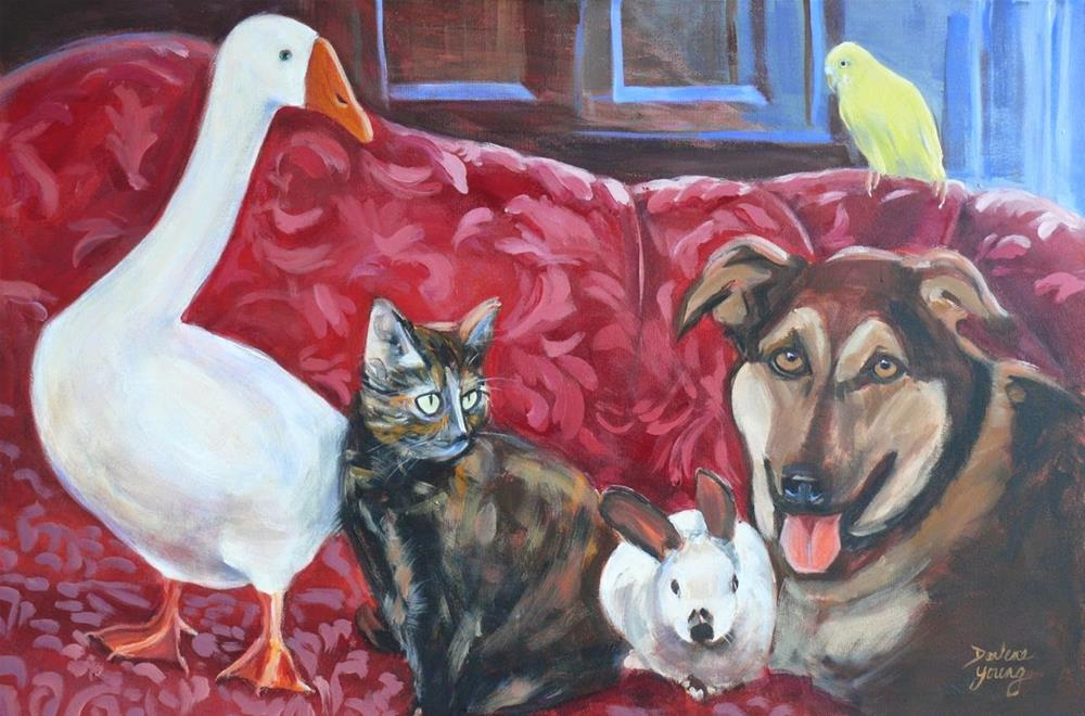"""""""756 The Perfect Family"""" original fine art by Darlene Young"""