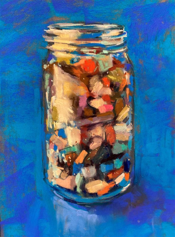 """""""Pastels in a Jar"""" original fine art by Marla Baggetta"""