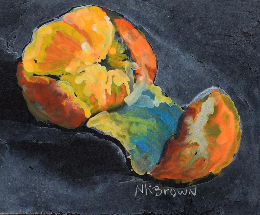 """""""Orange You Cute"""" original fine art by Nancy Brown"""
