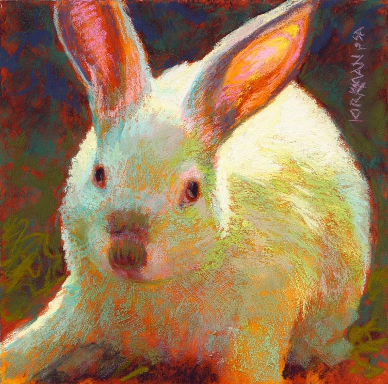 """Happy Easter from Marshmallow!"" original fine art by Rita Kirkman"
