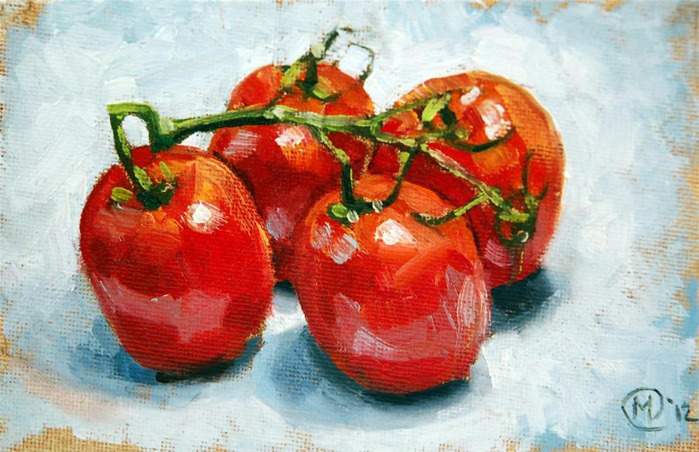 """Tomato Quartet"" original fine art by Maurice Morgan II"