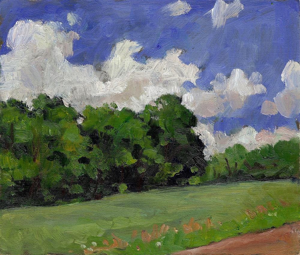 """""""Summer Field, Vermont"""" original fine art by Thor Wickstrom"""