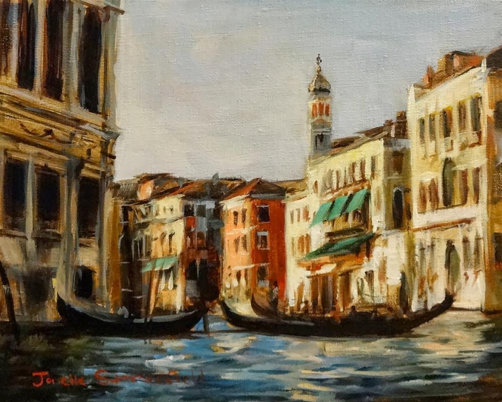 """""""Venice Canal II"""" original fine art by Jonelle Summerfield"""