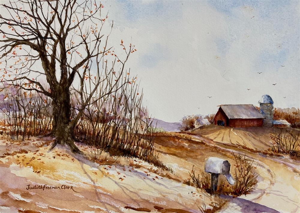 """November Day"" original fine art by Judith Freeman Clark"
