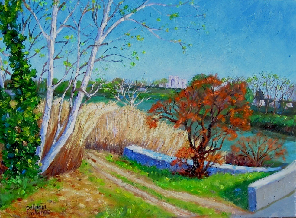 """Road to Arles"" original fine art by Patricia Musgrave"