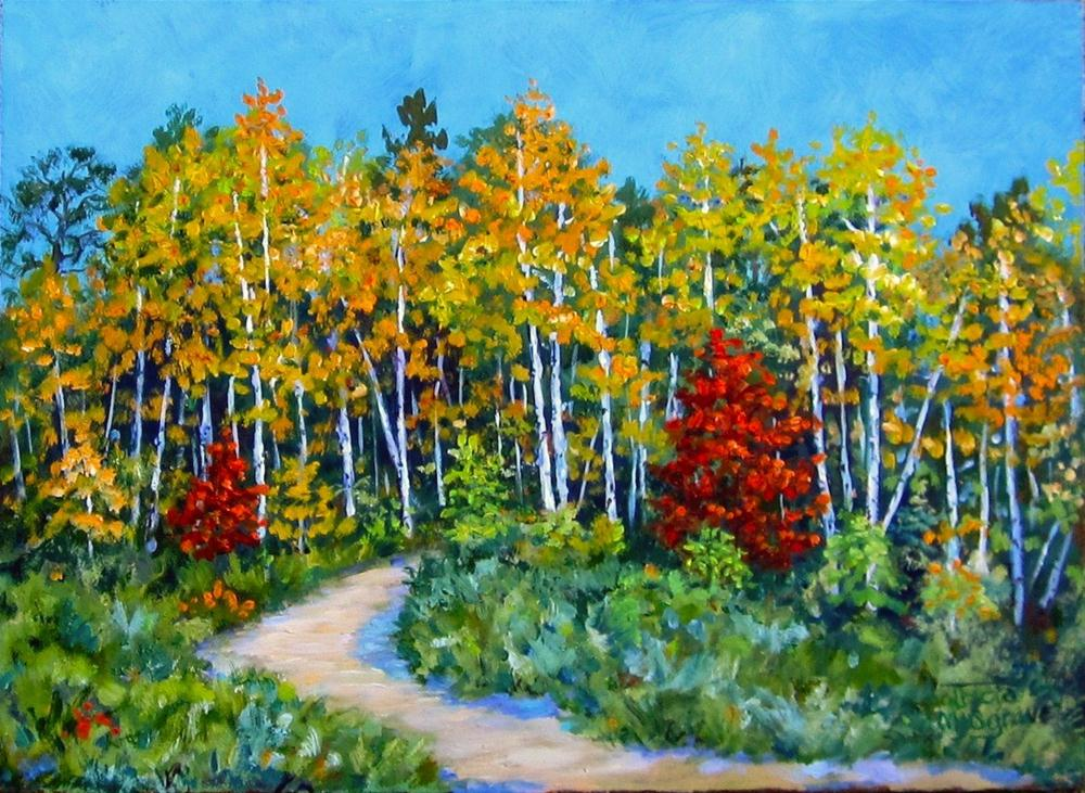 """Autumn Woods"" original fine art by Patricia Musgrave"