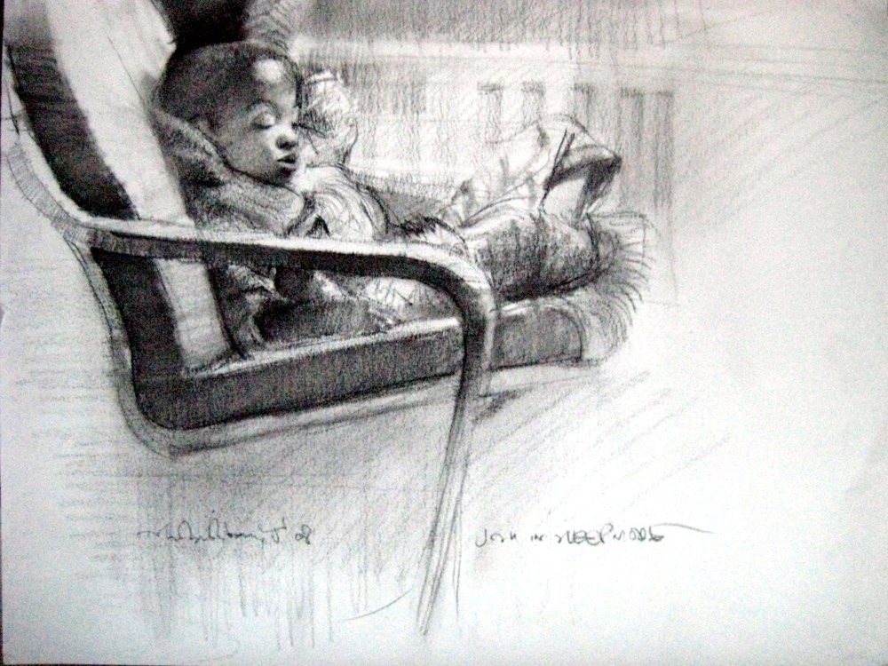 """Kids, Life, Art and Stuff 13"" original fine art by Adebanji Alade"