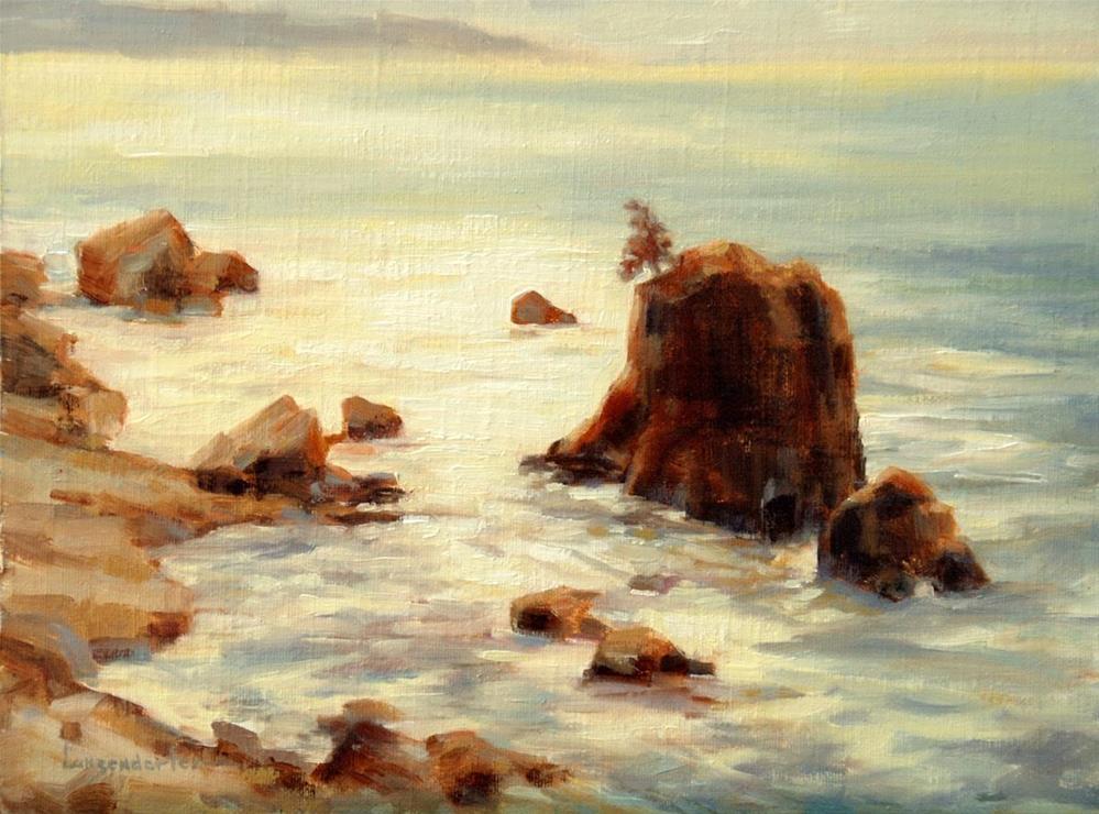 """OCEAN BRIGHT"" original fine art by Dj Lanzendorfer"