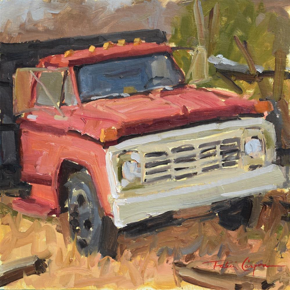 """""""Log Truck"""" original fine art by Robin Caspari"""