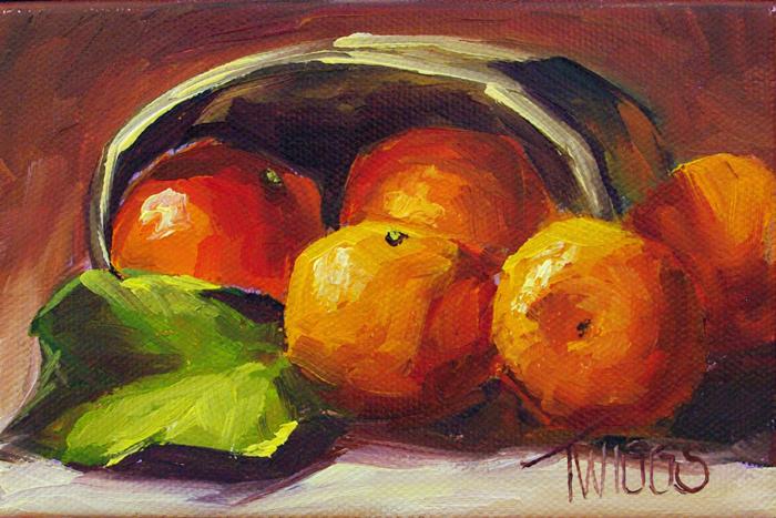 """Clementine Fest"" original fine art by Lori Twiggs"