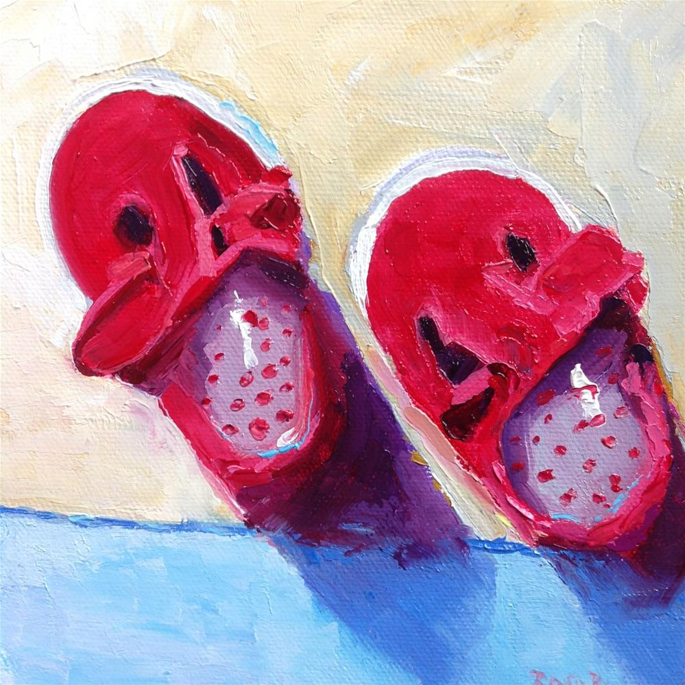 """""""Baby's Little Red Shoes"""" original fine art by Rose Brenner"""