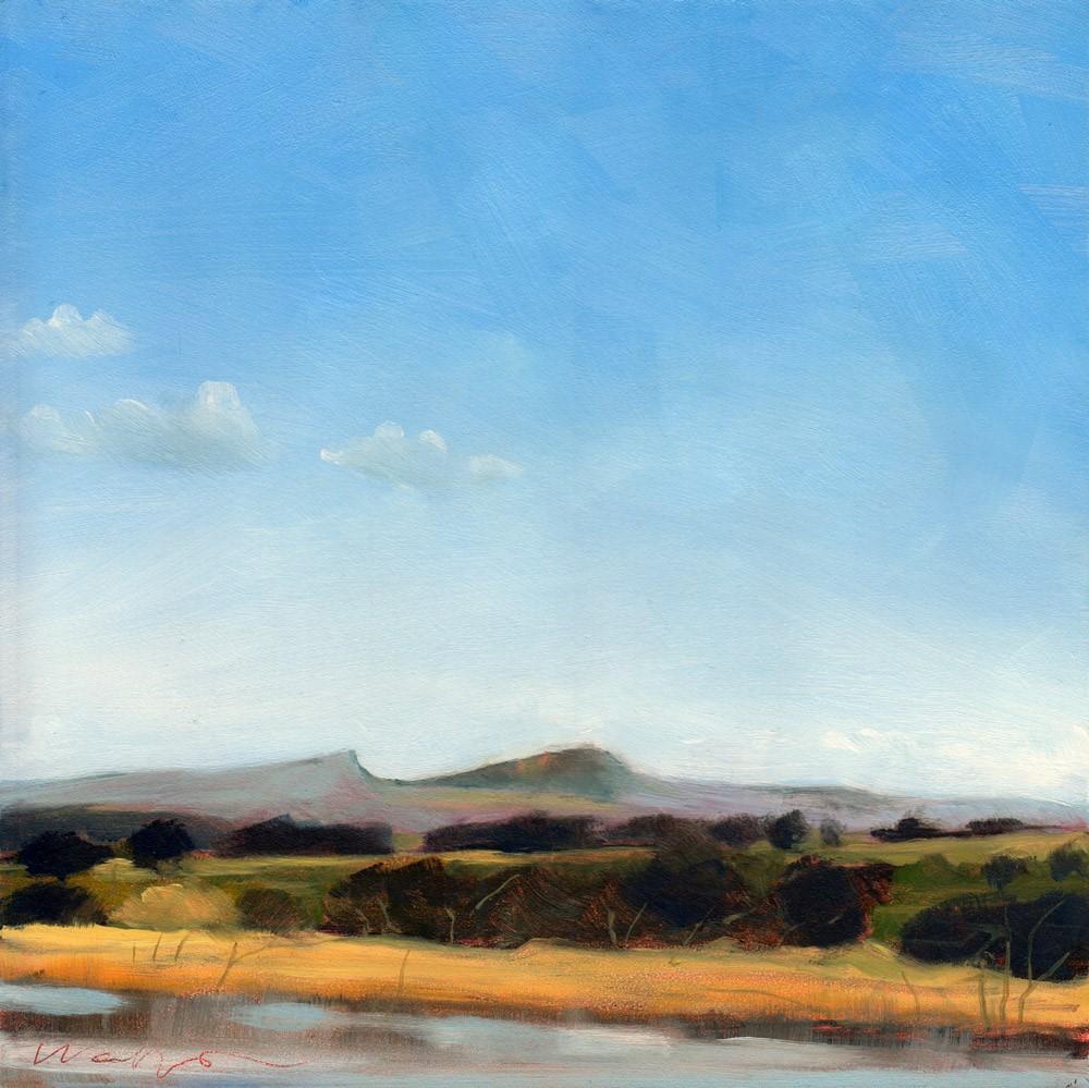 """Brecon Beacons"" original fine art by Wolfango Chiappella"