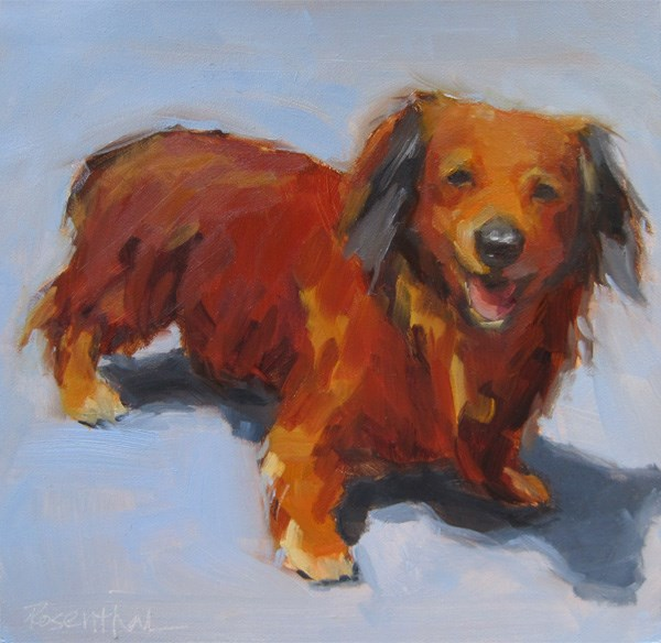 """Frenky"" original fine art by Robin Rosenthal"