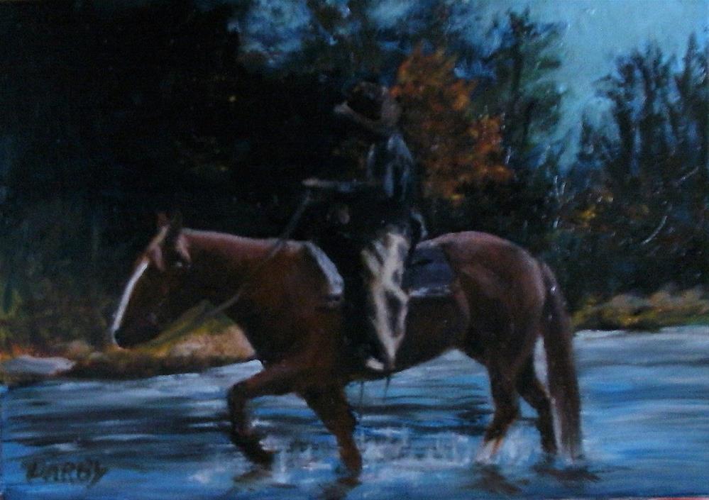 """Home by Last Light"" original fine art by Lynn Darby"