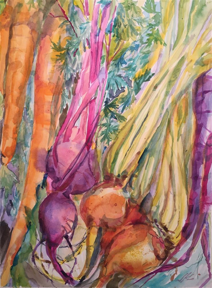 """Carrots and Beets"" original fine art by Jean Krueger"