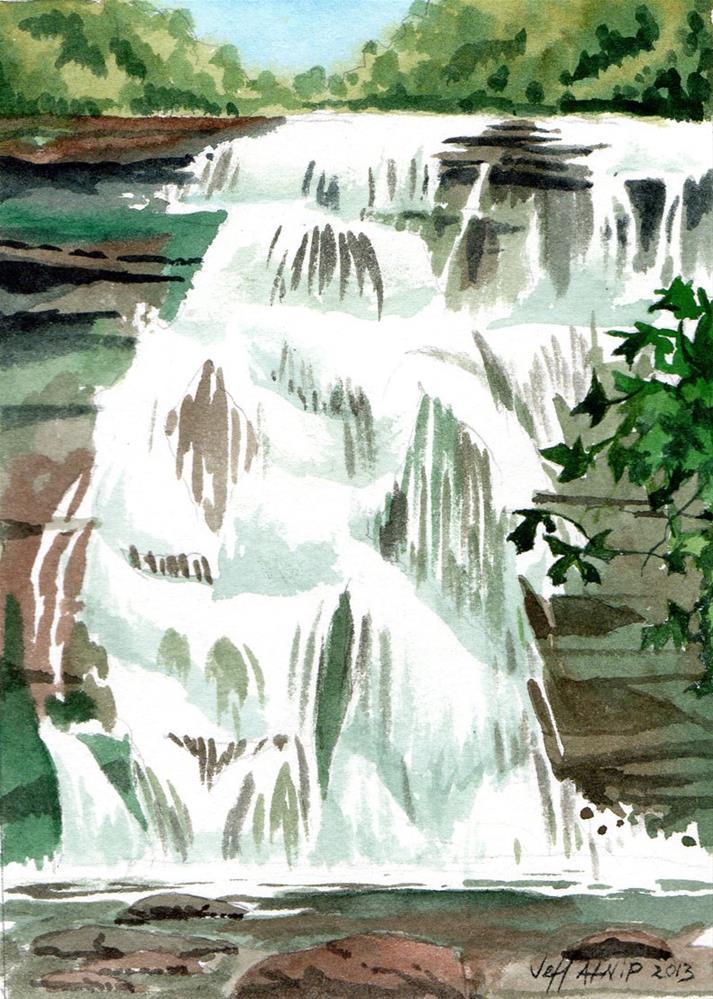 """Bald River Falls"" original fine art by Jeff Atnip"