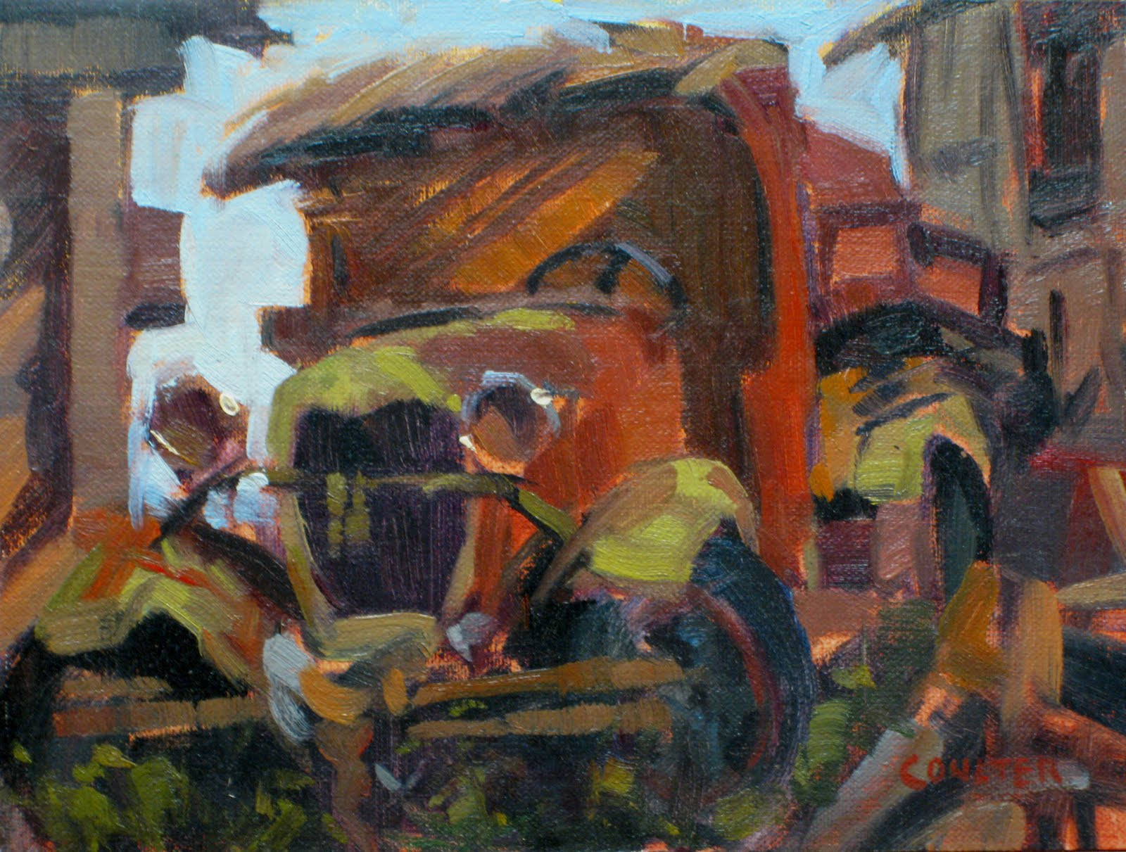"""""""'29 FORD AA C Cab"""" original fine art by James Coulter"""