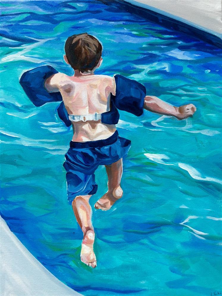 """Leap"" original fine art by Lauren Kuhn"