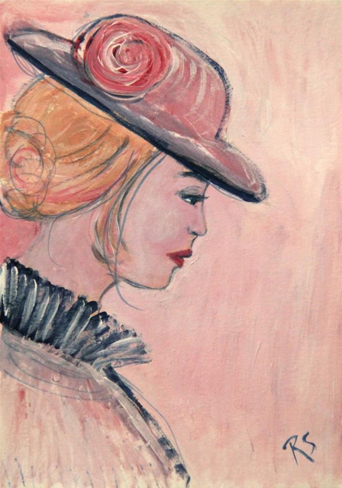"""""""Study in Pink - Constance"""" original fine art by Roberta Schmidt ArtcyLucy"""