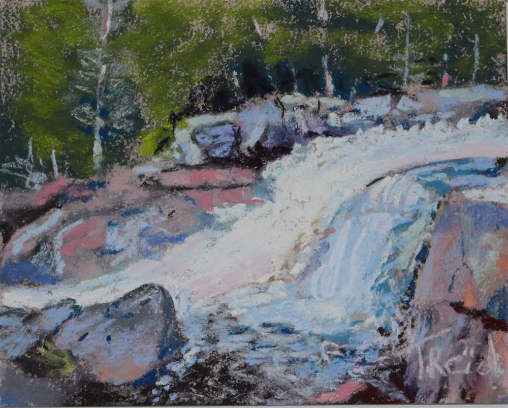 """""""Glen Falls"""" original fine art by Toby Reid"""