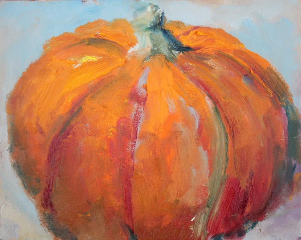 """""""Pumpkin, Contemporary Still Life Paintings by Amy Whitehouse"""" original fine art by Amy Whitehouse"""