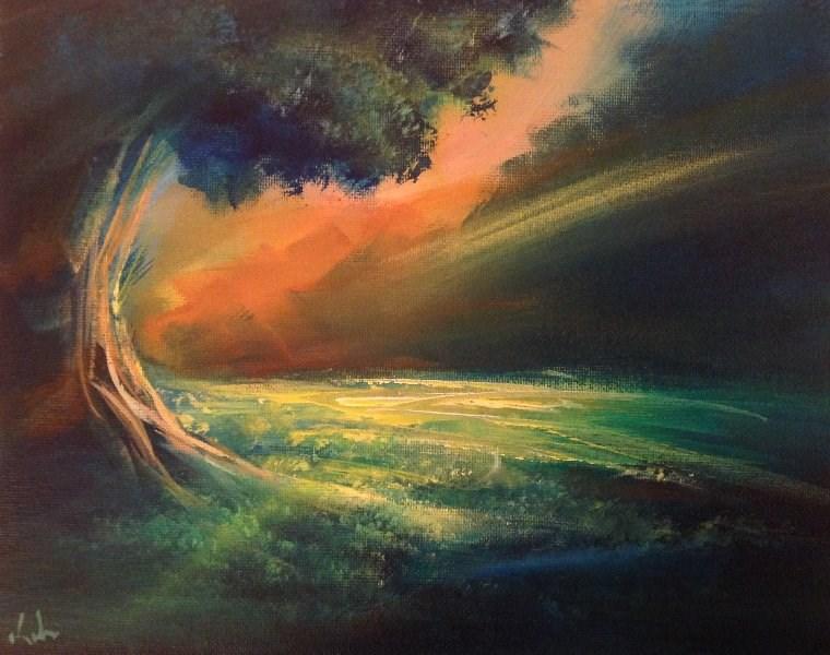 """Sometime in Summer"" original fine art by David Kuhn"