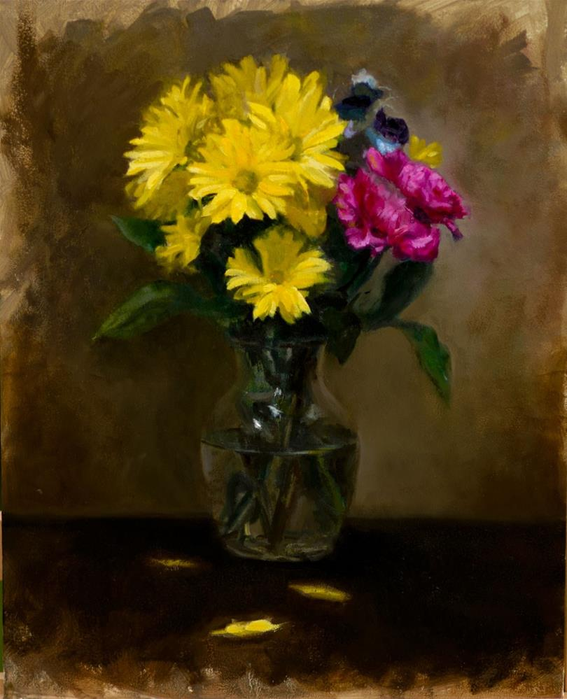 """Daisies and Carnations"" original fine art by Garry Kravit"