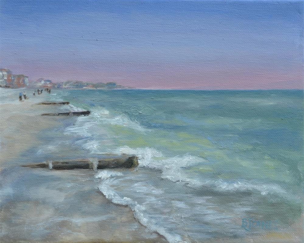 """A Walk On The Beach"" original fine art by Barbara Gillis Joines"