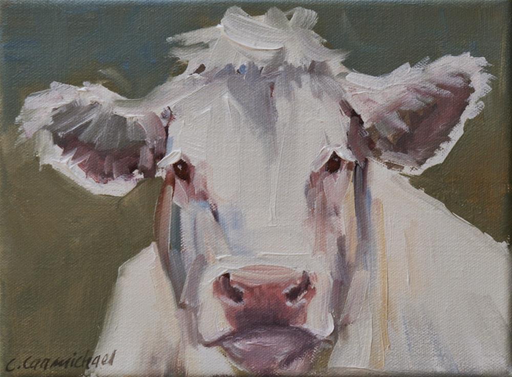 """tickled pink"" original fine art by Carol Carmichael"