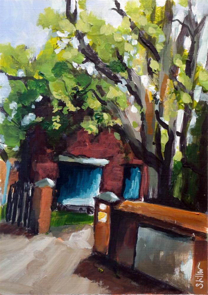 """""""2089 Courtyard Entrance"""" original fine art by Dietmar Stiller"""