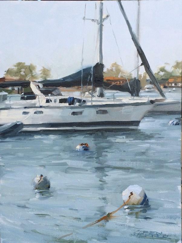"""Bouys & Boats"" original fine art by Karen Werner"