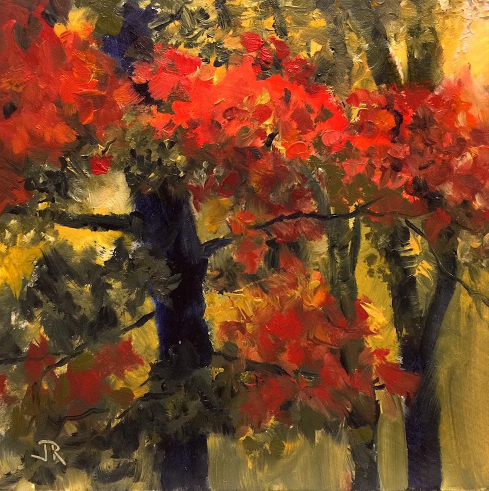 """Putting On My Red Dress"" original fine art by June Rollins"