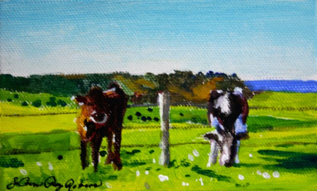 """The Grass is Always Greener"" original fine art by JoAnne Perez Robinson"