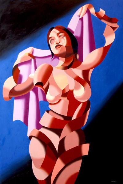 """Mark Webster - Jenn B. - Abstract Nude Figurative Oil Painting"" original fine art by Mark Webster"