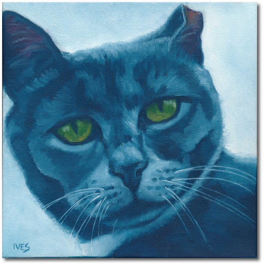 """Feral Cat Amy"" original fine art by Rk Ives"