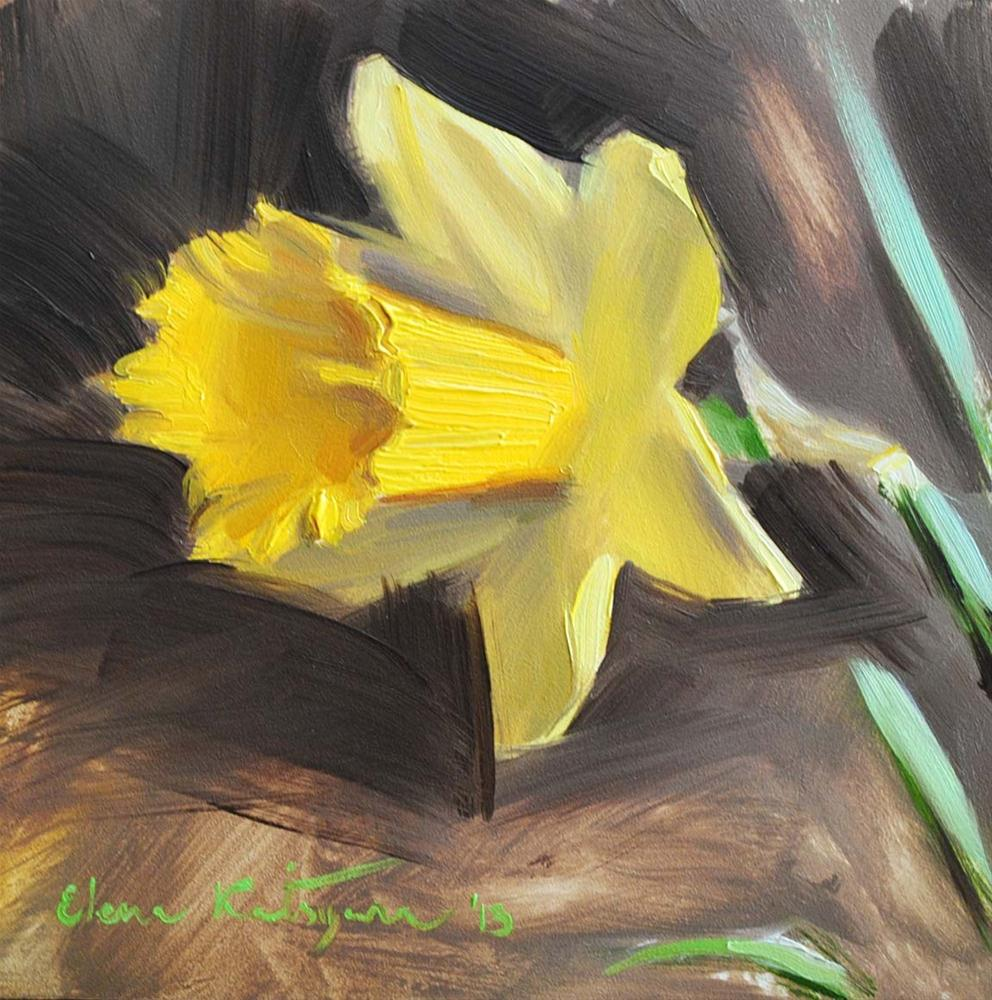 """Daffodil"" original fine art by Elena Katsyura"